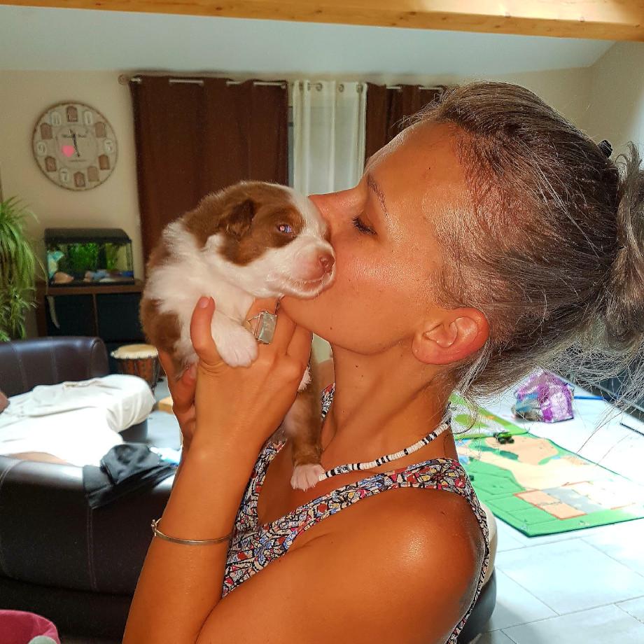 Manon Traby et un bebe des tresors d easy blue calin